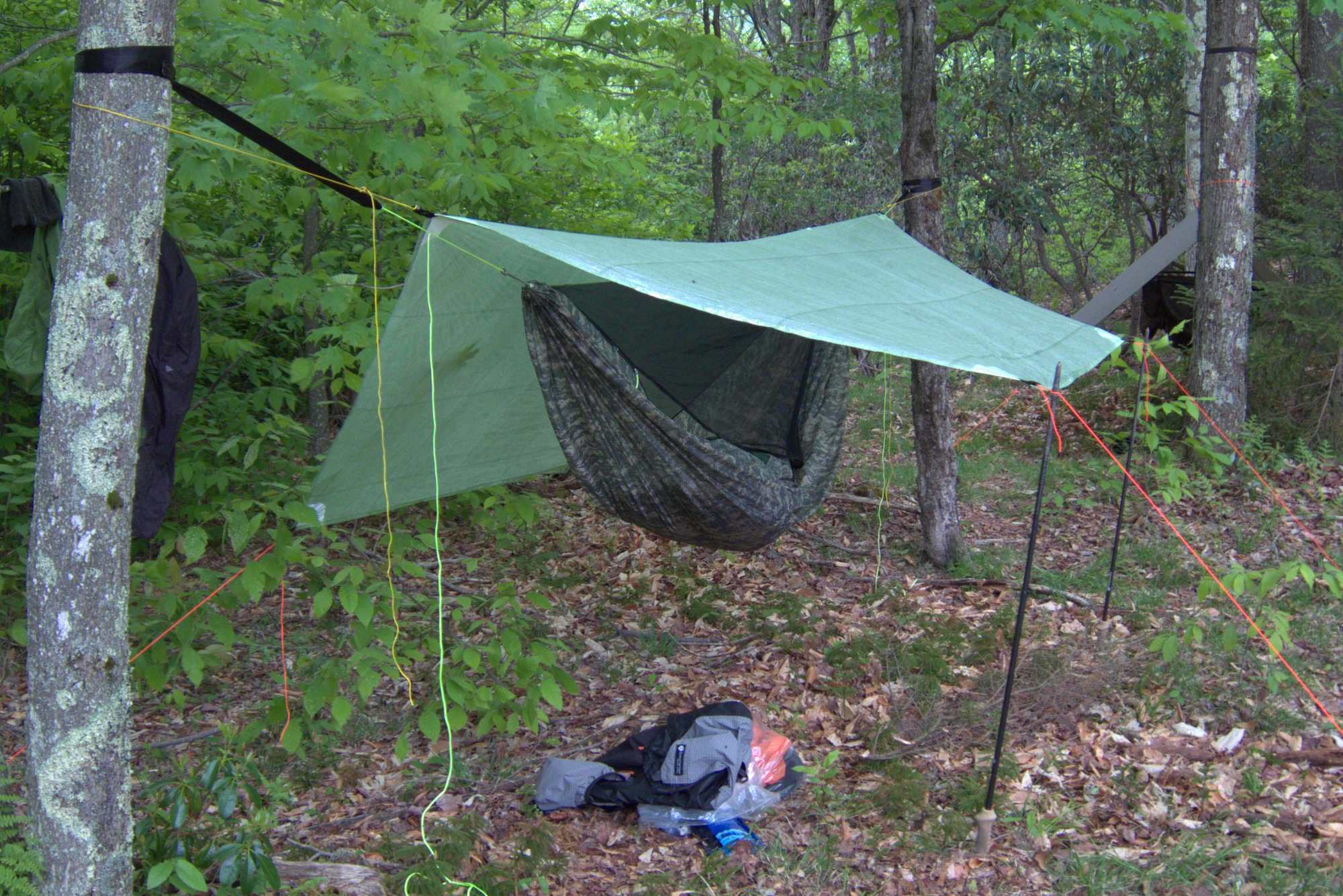 ultralight-backpacking-hammock-setup